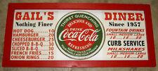 Personalized Vintage Diner Style Soda Menu Board w/Coke Coca-Cola Tin Sign