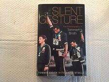 """""""SILENT GESTURE""""  THE AUTOBIOGRAPHY OF TOMMIE SMITH / HARDCOVER/AUTOGRAPHED"""