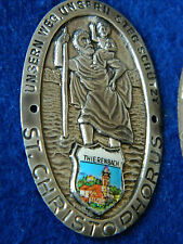MEDAILLE ancien ST.CHRISTOPHORUS christophe SAINT pelerinage de thierenbach ALU