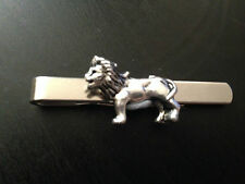 Lion PT5 Silver Emblem on a Tie Clip (Slide) weddings birthday
