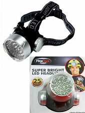 New 25 Led  Head Light Super Bright Head Lamp Adjustable Strap Waterproof