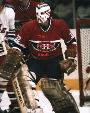 #32 Montreal CANADIENS GOALIE Denis HERRON Positions For a SHOT Custom LAB 8X10!