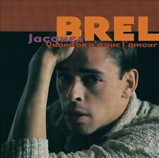 JACQUES BREL Quand On N'a que l'amour (CD 1996) 2-Disc Best of 37 Songs French