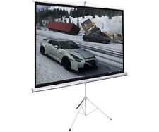 "New Portable 100"" Projector 16:9 Projection Screen Tripod Pull-up Matte White"