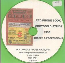 Croydon Red Phone Book 1936 CD