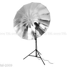 "150cm 59"" Large Black/Silver PRO Studio Umbrella Mega Brolly Quality A++"