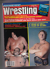 Sports Review Wrestling Magazine Andre the Giant Nick Bockwinkel January 1984