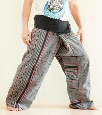 Hmong Embroidery Patchwork Fisherman Pants Hippie Tribal Unique Trousers FW13