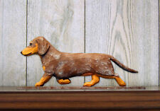 Dachshund Smooth Dog Figurine Sign Plaque Display Wall Decoration Red Dapple