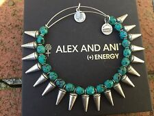 NEW ALEX and ANI Emerald SPIKE of CREATIVITY Beaded SILVER Bangle BRACELET