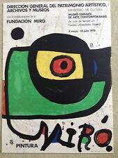 """Miro""""Pintura"""" original lithograph 1978 Exhibition poster"""