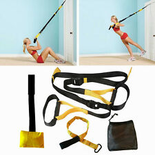 UPGRADED Home Gym Suspension Resistance Strength Training Straps Workout Trainer