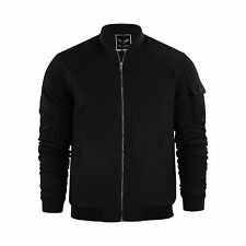 Mens Jacket Brave Soul Marks MA1 Bomber Jacket With Rouged Sleeves