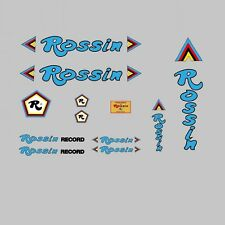 Rossin Record Decals-Transfers-Stickers - Blue #7