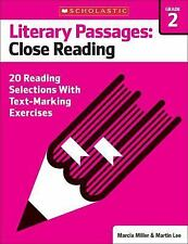 Literary Passages: Close Reading: Grade 2: 20 Reading Selections With Text-Marki