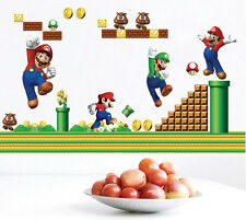Super Mario Bros Mural Removable Wall Sticker DIY Vinyl Decal Kids Room Decor wn