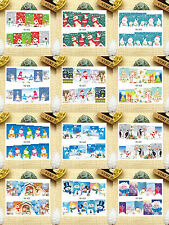 12 Sheets Nail Art Water Transfer Decal Stickers Christmas Santa Claus YB923-934