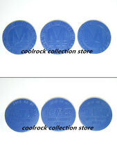 3 different rare China wuhan metro token with date on backside