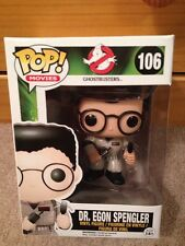 Funko Pop Movies Ghostbusters Dr. Egon Spengler Retired Vinyl #106 W/ Protector