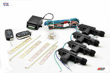 Universal Remote Central Locking Upgrade Kit Keyless Entry + HAA KEYS BLANK