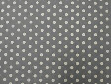 SPOTTY GREY B17 CURTAIN DRESSMAKING CRAFT FABRIC COTTON PRINT SPOTTED DOTTY