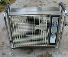 Vintage Sears Kenmore Metal  Box Fan w/Wheels,Adjustable/Tilt Stand & Thermostat