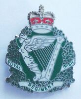 ROYAL IRISH REGIMENT LAPEL PIN OR WALKING STICK MOUNT