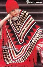 PONCHO & HAT 12ply - Ladies crochet pattern
