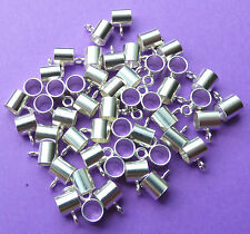 5mm 925 Sterling Silver European Style Charm Slider with Closed Jump Ring 2pcs
