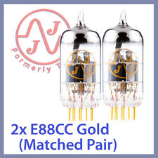 2x JJ Tesla 6922 / E88CC Gold Pin Vacuum Tubes, Matched Pair TESTED