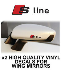 AUDI S-LINE WING SIDE MIRROR DECALS STICKERS VINYL Adhesive Graphic decals X2