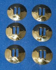 Round gilt Concho slide on Fitting 33mm 6 pack Craft larp Leathercraft
