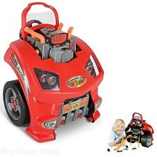 Theo Klein Service Car STATION TOY, Pretend Play Kids Car Engine SERVICE STATION