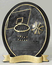 BASKETBALL OVAL RESIN TROPHY - FREE ENGRAVING, FANTASY