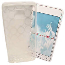 SILIKON TPU HANDY COVER CASE TRANSPARENT für SAMSUNG i9100 + Displayschutzfolie