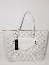 NWT Olivia + Joy White Regis Perforated Tote