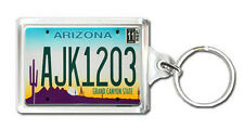 ARIZONA USA LICENSE PLATE KEYRING SOUVENIR LLAVERO