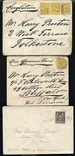 3 1890s FRANCE COVERS to ENGLAND & USA
