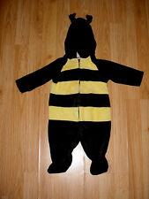 Boys-Girls-Infant-Yellow Black Velvet-Bee-Halloween Costume-3-6 Months