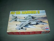 VTG AV-8B Harrier II ESCI ERTL 1/72 Scale Model Kit 1983 Sealed Inside Box Open