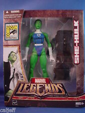 MARVEL LEGENDS 2007 SDCC COMIC-CON EXCLUSIVE SHE-HULK HASBRO FIGURE OPENED BOX