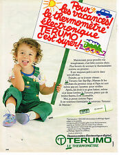PUBLICITE ADVERTISING 054  1986  TERUMO    thermomètre éléctronique digital