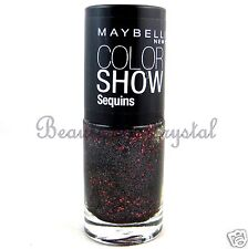 Maybelline Color Show Nail Polish Sequins COCKTAIL DRESS 835 Black & Red Glitter