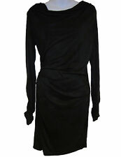 Felder Felder Sasa Draped Jersey Dress sz 8 US / 12 UK black NEW