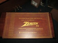 """Large 1960's 70's Vintage Zenith Quality Handcrafted TV sign measures 24"""" x 14"""""""