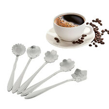 Mini Lovely Creative Elegant Flowers Shape Stainless Steel Coffee Tea Spoons