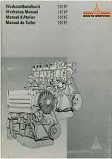 DEUTZ ENGINE 1011F WORKSHOP SERVICE MANUAL - F2L, F3L, F4L, BF4L, F3, F4, BF4M