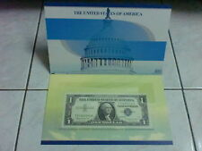 USA $1 1957 series silver certificate with folder (aUNC), Z 37360851 A