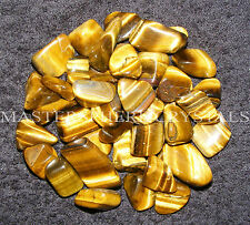 10 x Gold Tigers Eye Tumblestones 1.8cm to 2.2cm Crystal Gemstone Wholesale