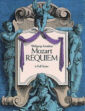 W.A. Mozart Requiem Full Score Vocal Choral Learn Sing Play Piano Music Book